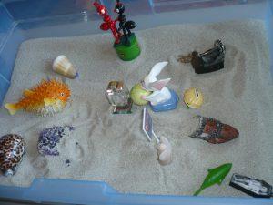 travail avec du sable